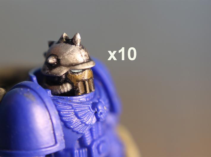 28mm Astrowarrior Death Heresy helmets 3d printed