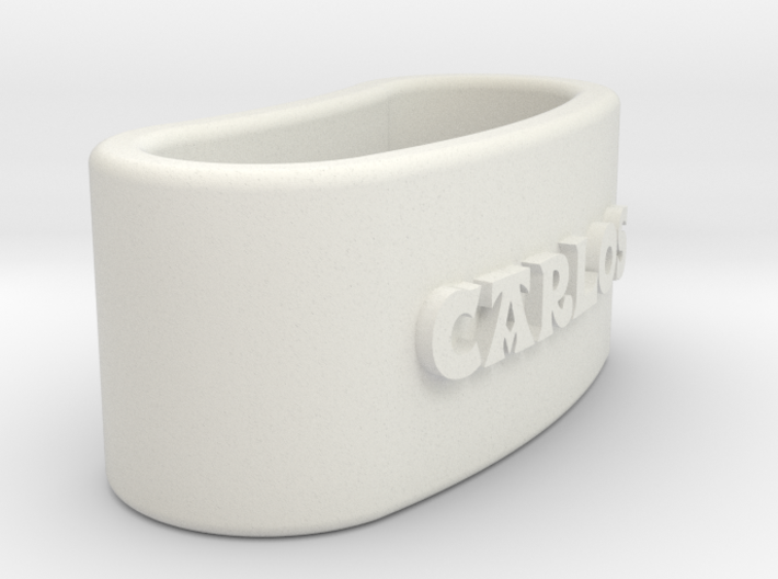 CARLOS Napkin Ring with lauburu 3d printed