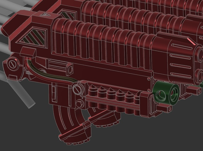 4x High Detail Plasma guns 3d printed