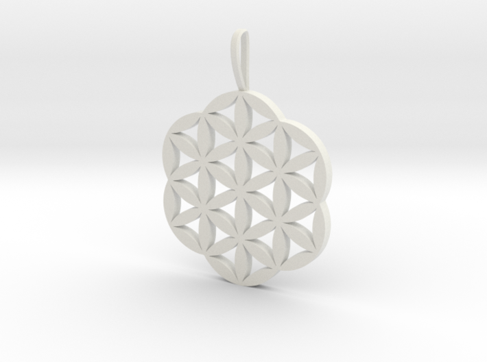 Flower of Life Necklace Pendant Charm 3d printed