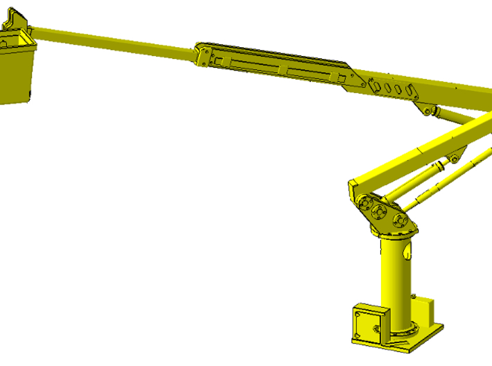 1/87th telescoping bucket lift for service trucks 3d printed