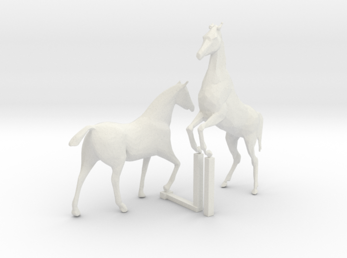 S Scale Horses 4 3d printed This is a render not a picture