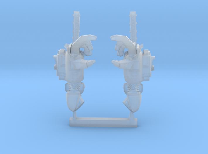 chainfist with machine gun 3d printed