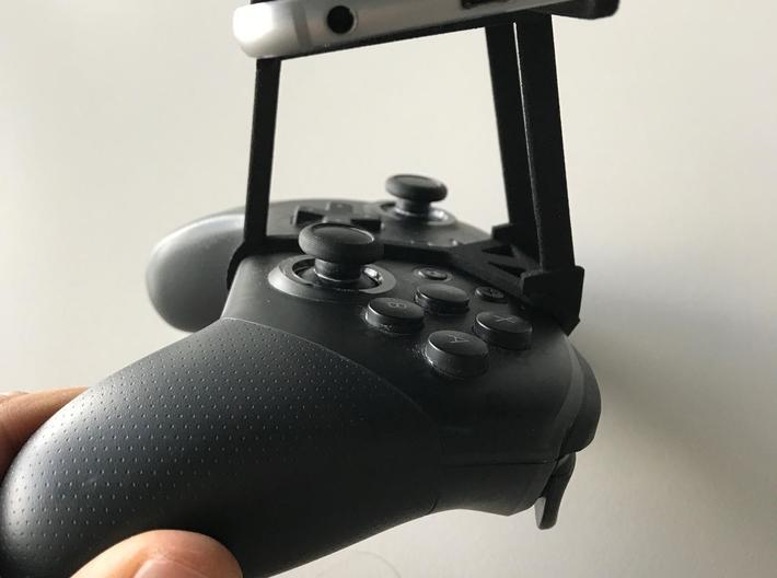 Nintendo Switch Pro controller & vivo S1 - Over th 3d printed Nintendo Switch Pro controller - Over the top - Side View