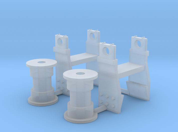 1/50 Cat D11R rollers 3d printed
