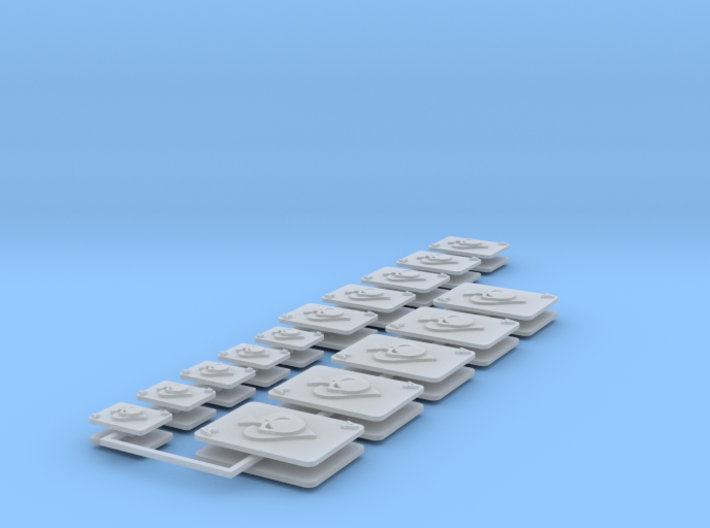 Commission 86 Icons various sizes 3d printed
