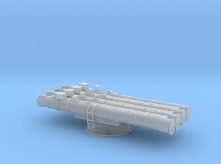 Soviet 4 tube torpedo launcher 1/100 3d printed