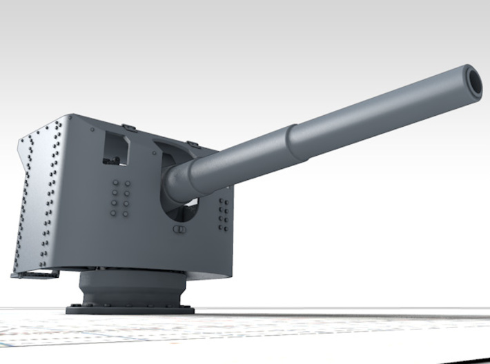 1/144 German 15 cm/45 SK L/45 Gun w. Shield x4 3d printed 3d render showing product detail