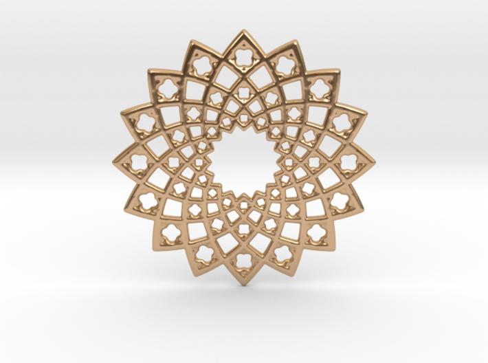 Sunny Fractal Flower Medallion 3d printed