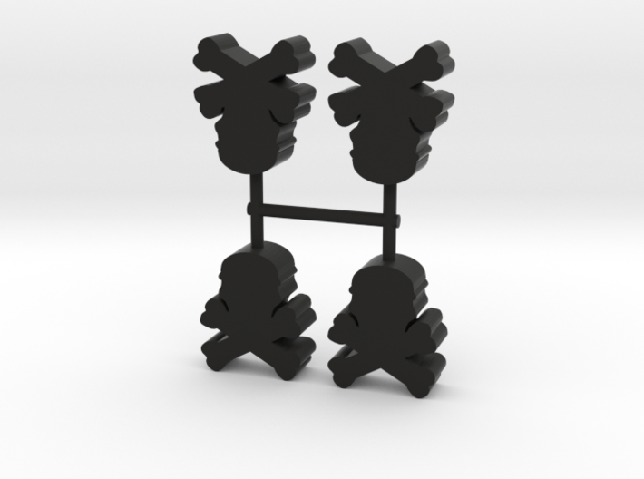 Skull and Bones Meeple, 4-set 3d printed