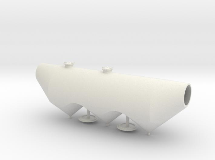 HO 1/87 Dry Bulk Trailer 1040 Superjet - tank only 3d printed