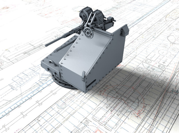 1/48 Twin 20mm Oerlikon Powered MKV Mount 3d printed 1/48 Twin 20mm Oerlikon Powered MKV Mount