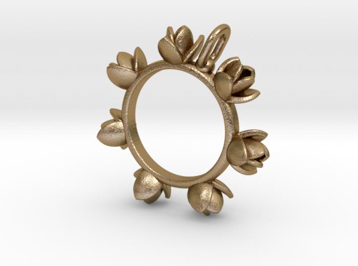 Magnolia Pendant 3d printed