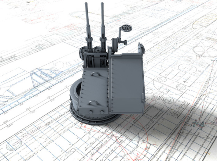1/35 Twin 20mm Oerlikon MKV Mount Not in Use 3d printed 3d render showing product detail