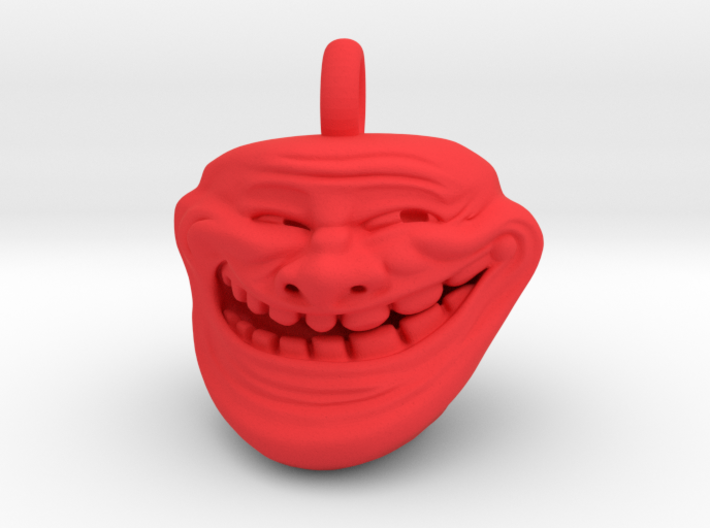 Trollface Meme Pendant necklace all materials 3d printed