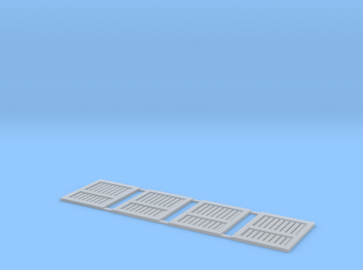 N Scale Southern Pacific (SP) Style Stock Car Door 3d printed