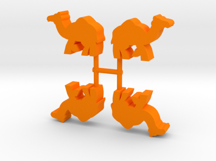 Camel Meeple, running, 4-set 3d printed