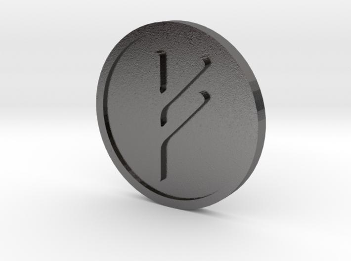 Fehu Coin (Elder Futhark) 3d printed