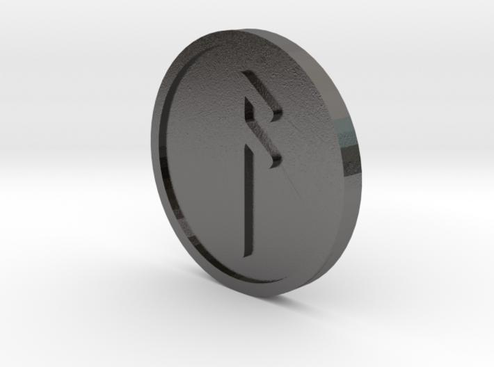 Ansuz Coin (Elder Futhark) 3d printed