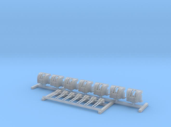 """1/700 HMS Hood 4""""/45 (10.2 cm) QF Mark XVI Guns x7 3d printed 1/700 HMS Hood 4""""/45 (10.2 cm) QF Mark XVI Guns x7"""