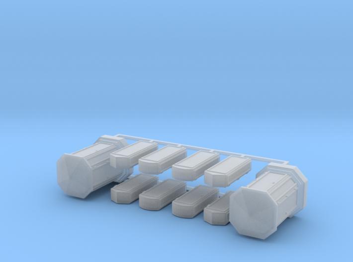 Linien- und Endverzweiger 10erSet - 1:87 H0 3d printed
