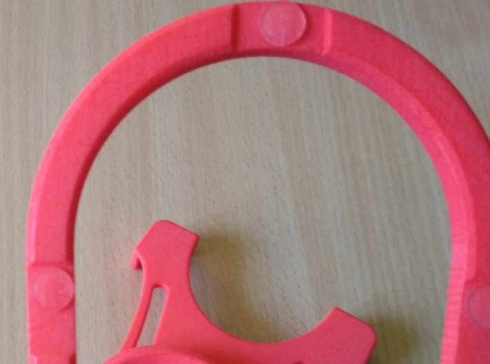Rotary support for smartphones (example) 3d printed Underneath - places for non-slip pads