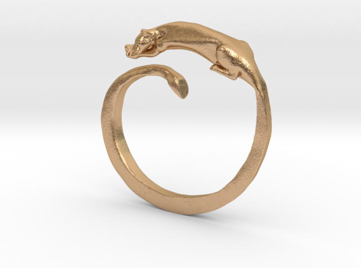 Sleeping Lioness Ring 3d printed