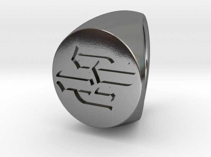 Custom signet ring 92 3d printed