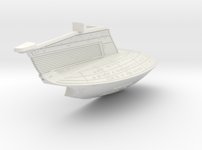 1/1400 USS Ambassador proposal Left Secondary Hull 3d printed