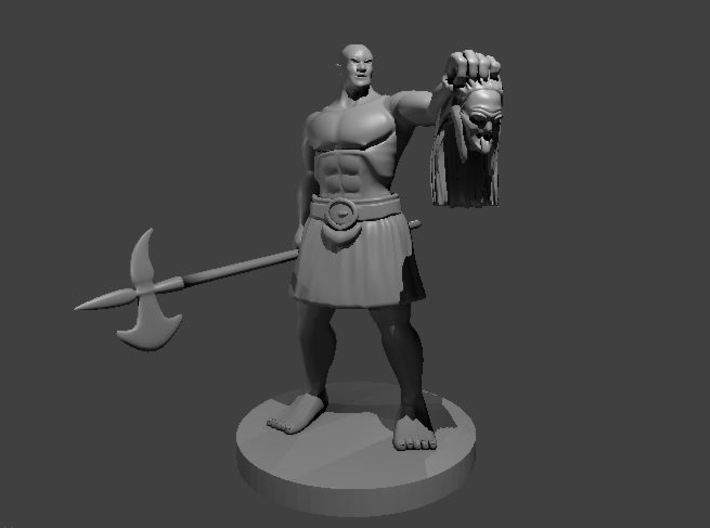 Mountain Barbarian with Hag Head 3d printed