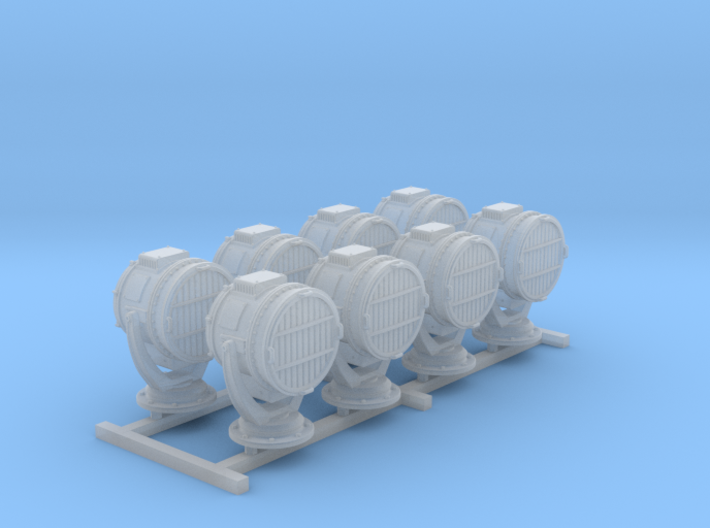1/200 SMS Emden/Dresden 1.4M Searchlights x8 3d printed 1/200 SMS Emden/Dresden 1.4M Searchlights x8