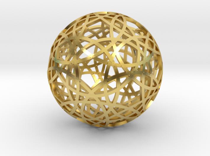 30 circle sphere 3d printed