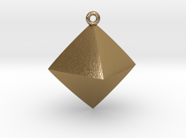 Minimal Rhombus Pendant 3d printed