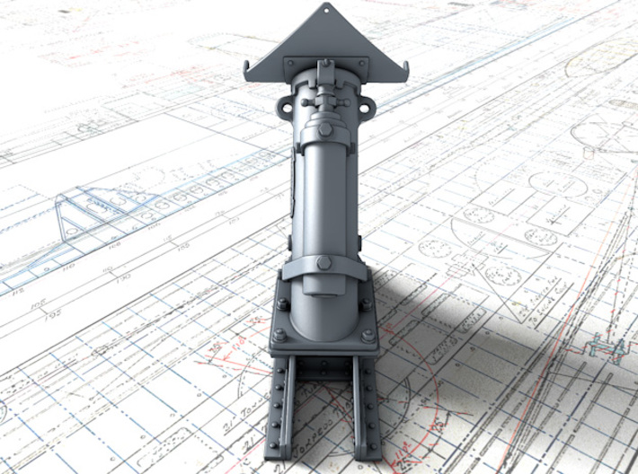 1/48 Royal Navy MKII Depth Charge Thrower x1 3d printed 3d render showing product detail