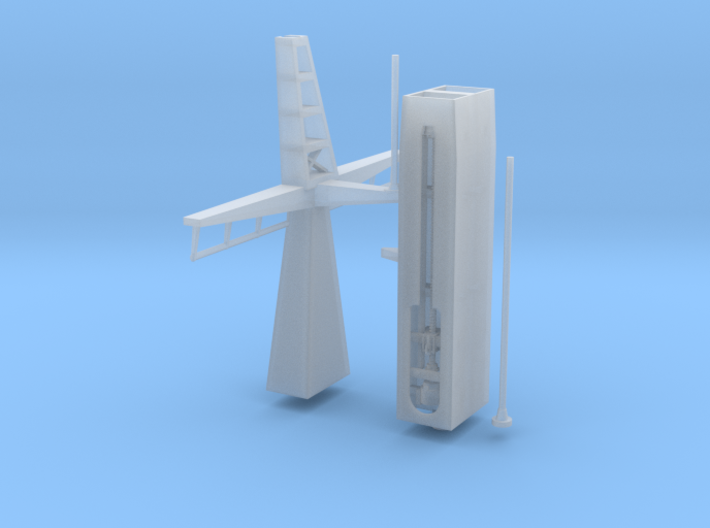 1/96 scale Refuel Mast for F-125 Frigate 3d printed