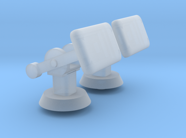 1/96 scale Selex VHF-SHF Sicral Sat Antenna 3d printed
