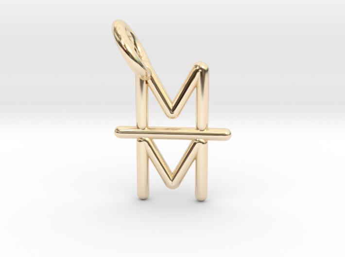 Mind over Matter Pendant 3d printed
