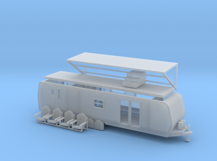 'N Scale' - 38' Camp Trailer 3d printed