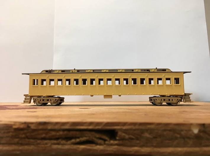 Central Pacific Commissioners Car (Ho Scale) 3d printed