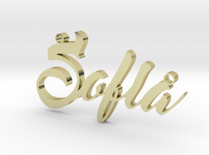 Custom Necklace Sofia 3d printed