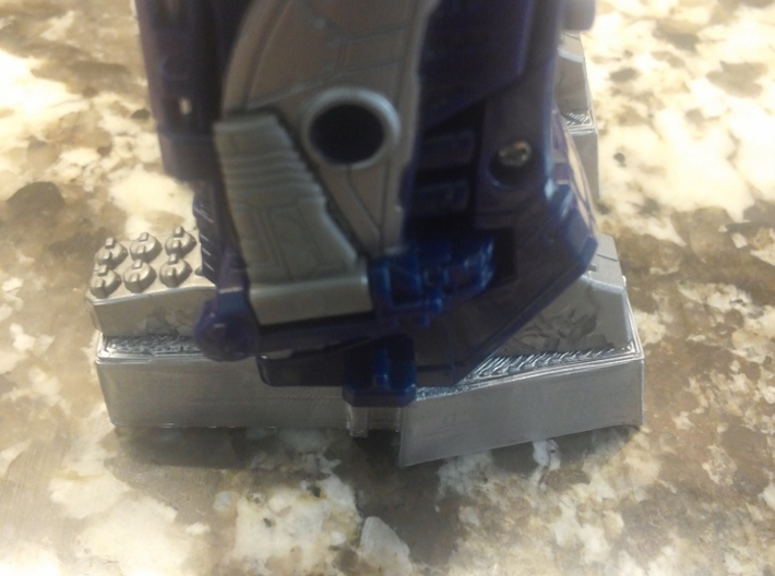 TF WFC Siege - Shockwave Feet Extensions 3d printed