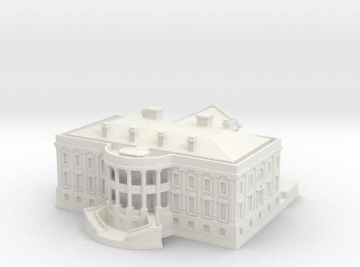 The White House 1/700 3d printed