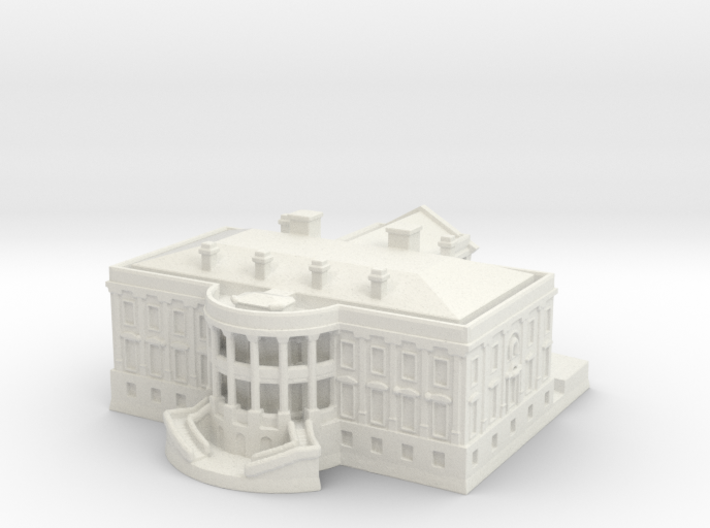 The White House 1/1250 3d printed