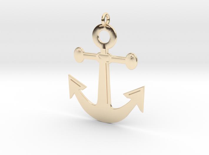 Anchor Pendant 3D Printed Model 3d printed