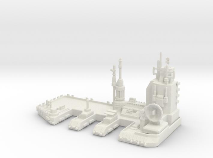 Navy Space Port 3d printed