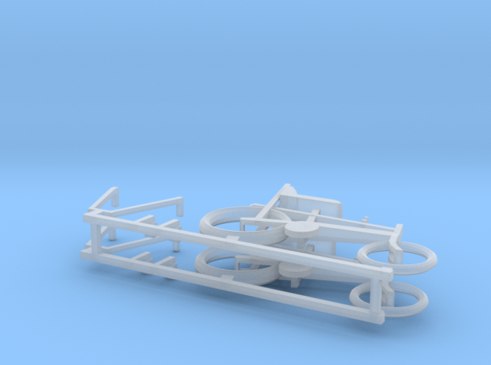 "O gauge (1:43) ""Chopper"" bike 2 pack 3d printed"