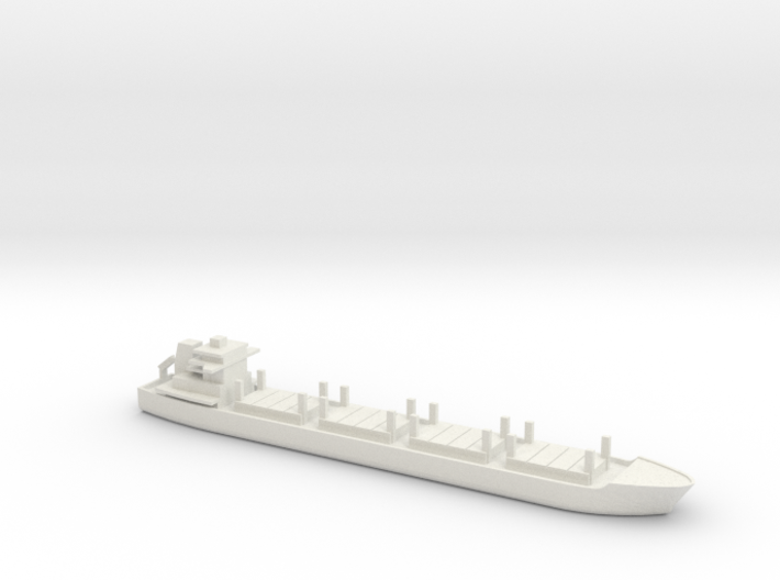 1/1250 Scale Dry Stores Cargo Ship 3d printed