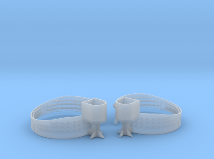 1/192 USN 40mm Quad Gun Tub Forecastle Set 3d printed