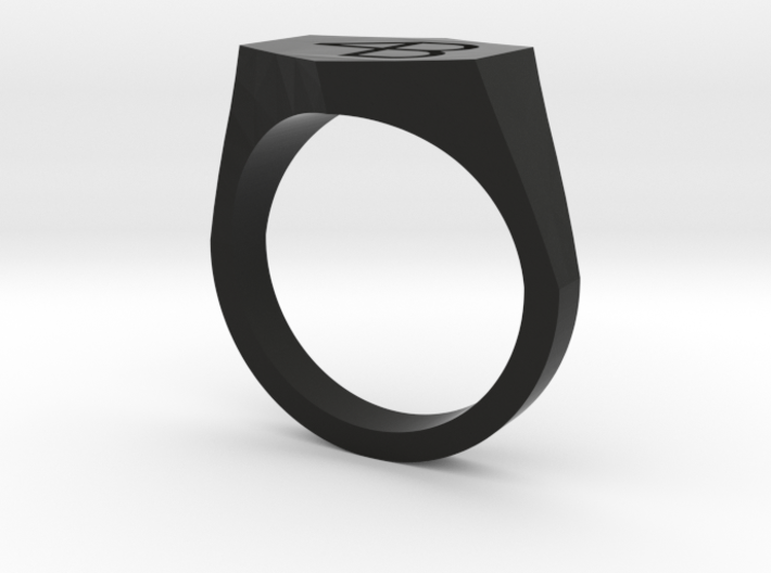 4B engraved ring-10US 3d printed