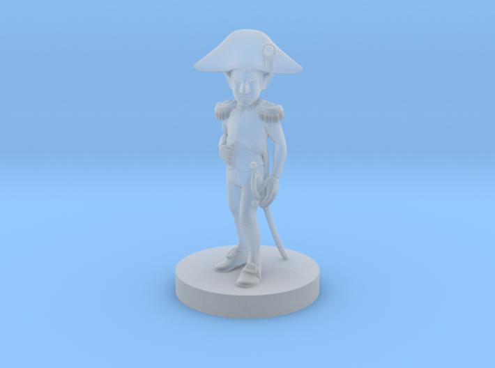 Gnome Male Napoleonic Paladin 3d printed